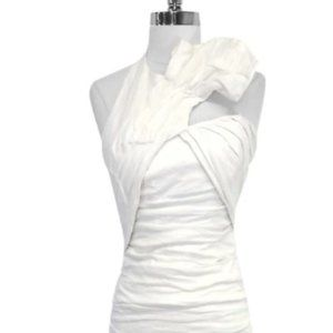 Nicole Miller   white halter cocktail dress